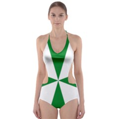 Cross Of Saint Lazarus  Cut-out One Piece Swimsuit by abbeyz71