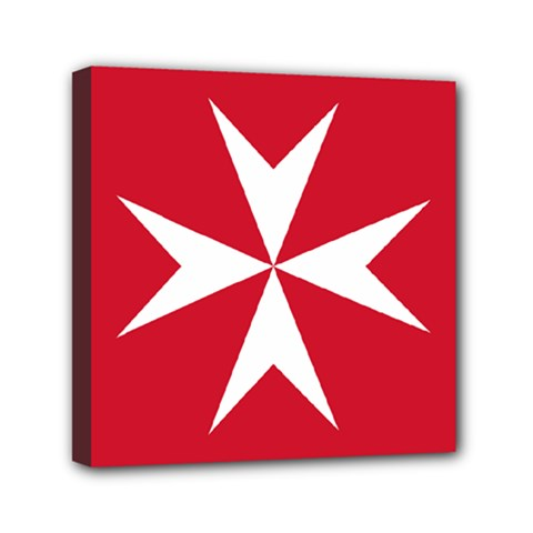 Civil Ensign Of Malta Mini Canvas 6  X 6  by abbeyz71