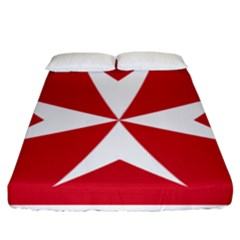 Civil Ensign Of Malta Fitted Sheet (king Size) by abbeyz71