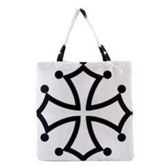 Occitan Cross\ Grocery Tote Bag by abbeyz71