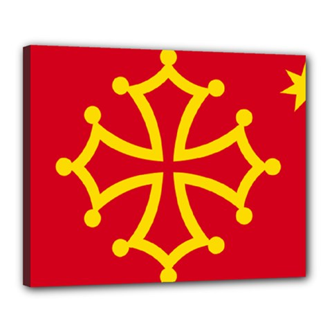 Flag Of Occitania Canvas 20  X 16  by abbeyz71