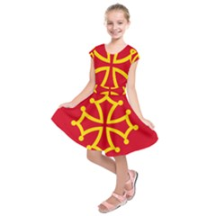 Flag Of Occitania Kids  Short Sleeve Dress by abbeyz71