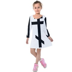 Orthodox Cross  Kids  Long Sleeve Velvet Dress by abbeyz71