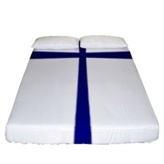 Byzantine Cross  Fitted Sheet (queen Size) by abbeyz71
