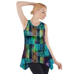 Abstract Square Wall Side Drop Tank Tunic by Costasonlineshop