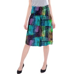 Abstract Square Wall Midi Beach Skirt by Costasonlineshop