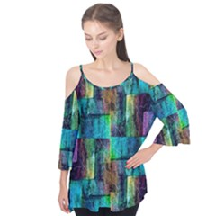 Abstract Square Wall Flutter Tees by Costasonlineshop