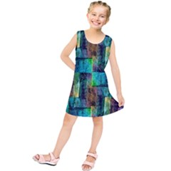 Abstract Square Wall Kids  Tunic Dress by Costasonlineshop