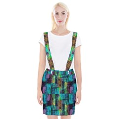 Abstract Square Wall Braces Suspender Skirt by Costasonlineshop