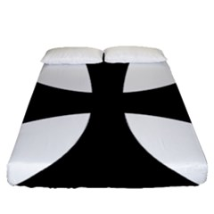 Cross Patty  Fitted Sheet (queen Size) by abbeyz71