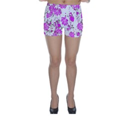 Floral Dreams 12 F Skinny Shorts by MoreColorsinLife