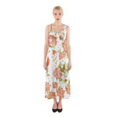 Floral Dreams 12 D Sleeveless Maxi Dress by MoreColorsinLife