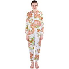 Floral Dreams 12 D Hooded Jumpsuit (ladies)  by MoreColorsinLife