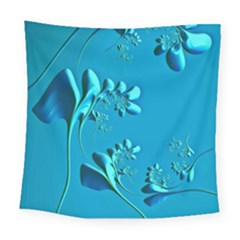 Amazing Floral Fractal A Square Tapestry (large) by Fractalworld