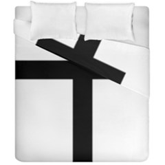 Patriarchal Cross Duvet Cover Double Side (california King Size) by abbeyz71