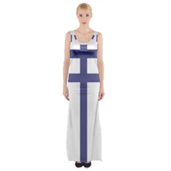 Patriarchal Cross Maxi Thigh Split Dress by abbeyz71
