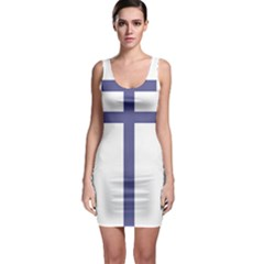 Patriarchal Cross Sleeveless Bodycon Dress by abbeyz71