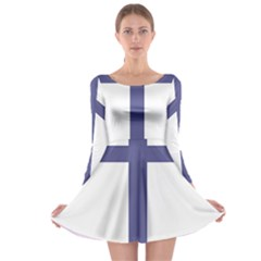 Patriarchal Cross Long Sleeve Skater Dress by abbeyz71