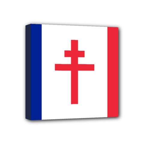 Flag Of Free France (1940 1944) Mini Canvas 4  X 4  by abbeyz71