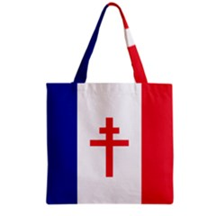 Flag Of Free France (1940 1944) Grocery Tote Bag by abbeyz71