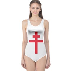 Flag Of Free France (1940-1944) One Piece Swimsuit by abbeyz71