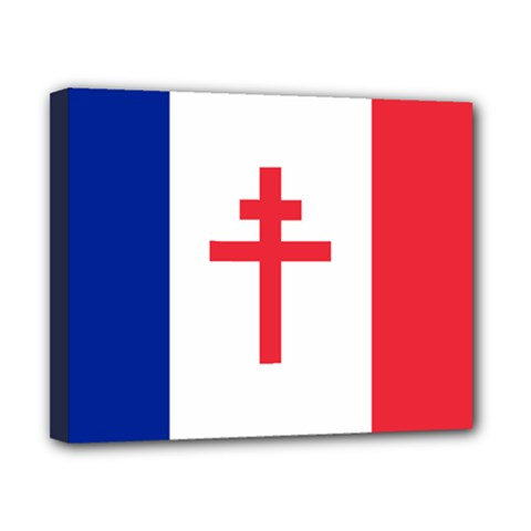 Flag Of Free France (1940-1944) Canvas 10  X 8  by abbeyz71