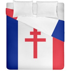 Flag Of Free France (1940 1944) Duvet Cover Double Side (california King Size) by abbeyz71