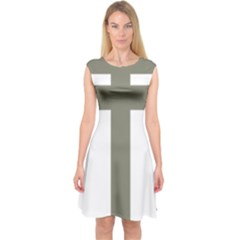 Cross Of Loraine Capsleeve Midi Dress by abbeyz71