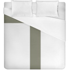 Cross Of Lorraine  Duvet Cover (king Size) by abbeyz71