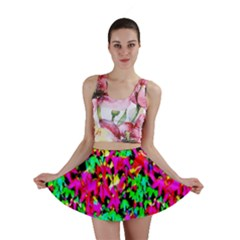 Colorful Leaves Mini Skirt by Costasonlineshop