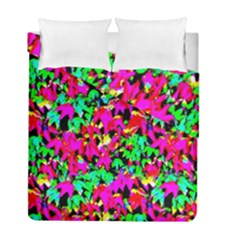 Colorful Leaves Duvet Cover Double Side (full/ Double Size) by Costasonlineshop