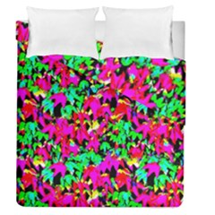 Colorful Leaves Duvet Cover Double Side (queen Size) by Costasonlineshop