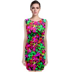 Colorful Leaves Classic Sleeveless Midi Dress by Costasonlineshop