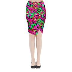 Colorful Leaves Midi Wrap Pencil Skirt by Costasonlineshop
