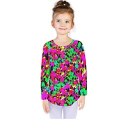 Colorful Leaves Kids  Long Sleeve Tee by Costasonlineshop