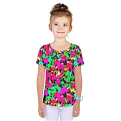 Colorful Leaves Kids  One Piece Tee by Costasonlineshop