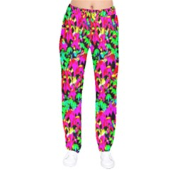 Colorful Leaves Drawstring Pants by Costasonlineshop