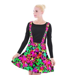 Colorful Leaves Suspender Skater Skirt by Costasonlineshop