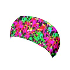 Colorful Leaves Yoga Headband by Costasonlineshop