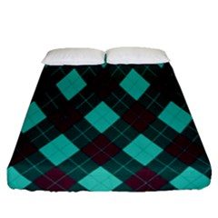 Plaid Pattern Fitted Sheet (queen Size)