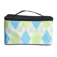 Plaid Pattern Cosmetic Storage Case by Valentinaart