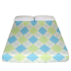 Plaid Pattern Fitted Sheet (california King Size)