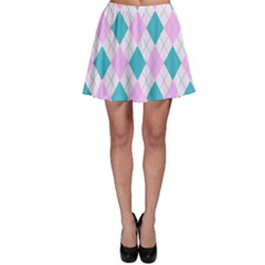 Plaid Pattern Skater Skirt