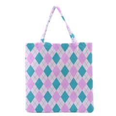 Plaid Pattern Grocery Tote Bag by Valentinaart