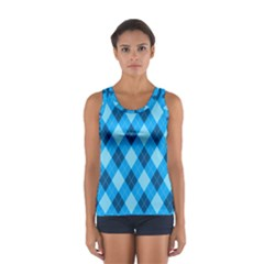 Plaid Pattern Women s Sport Tank Top