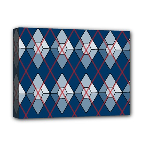 Diamonds And Lasers Argyle  Deluxe Canvas 16  X 12   by emilyzragz