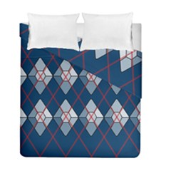 Diamonds And Lasers Argyle  Duvet Cover Double Side (full/ Double Size) by emilyzragz