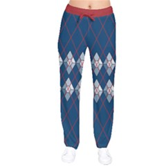 Diamonds And Lasers Argyle  Drawstring Pants