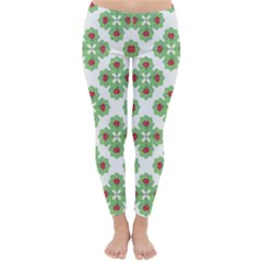 Floral Collage Pattern Classic Winter Leggings by dflcprintsclothing