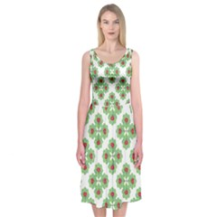 Floral Collage Pattern Midi Sleeveless Dress by dflcprintsclothing